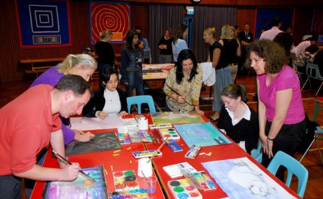 11. Participants took part in their art expression.