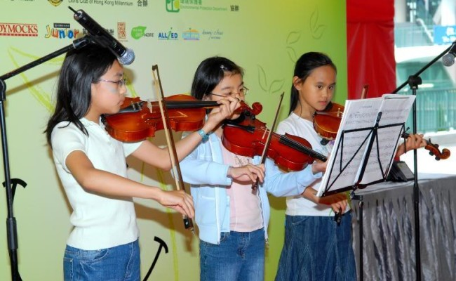8. Young talents playing violin
